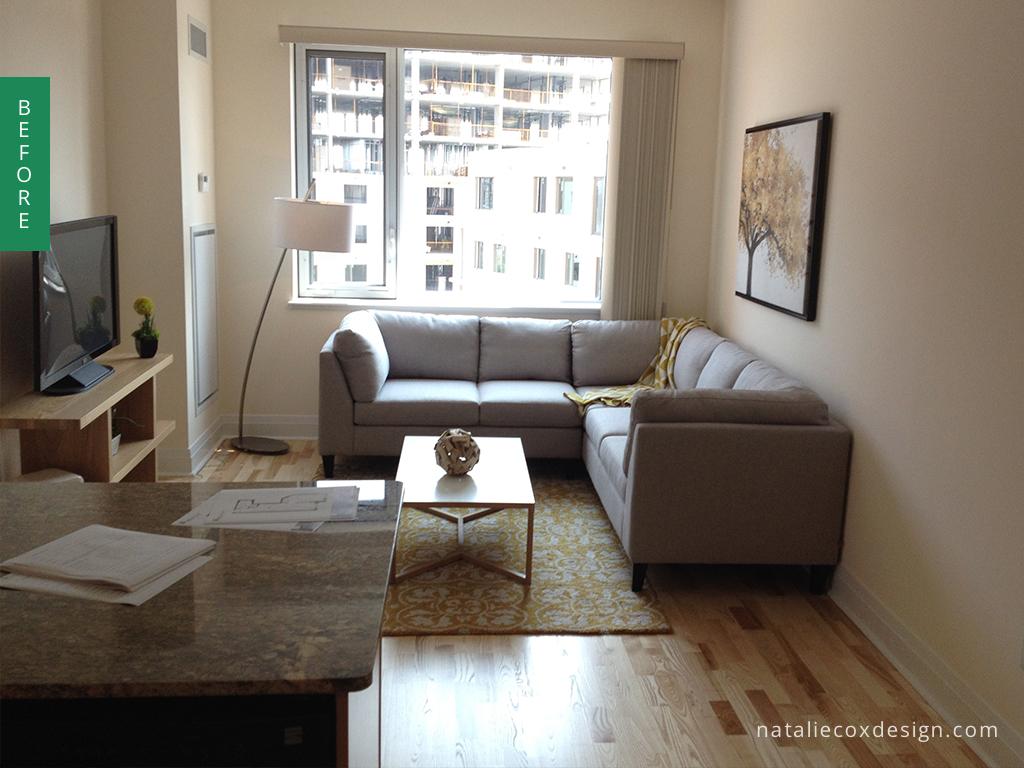 Before - Small Apartment - Ottawa Decorator Natalie Cox