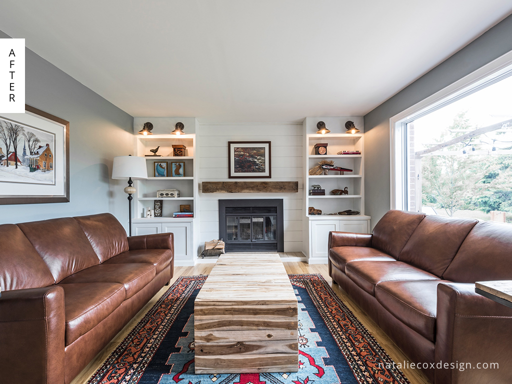 Unique Family Room Makeover - Natalie Cox Design - Interior Decorator - Kanata/Ottawa, Ontario
